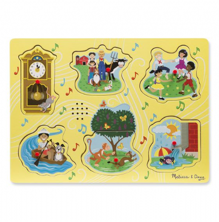 Melissa & Doug Sound Puzzle - Sing a long nursery rhymes 1 (yellow)